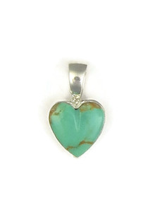 Small Kingman Turquoise Heart Pendant by Bernise Chavez (PD3856)