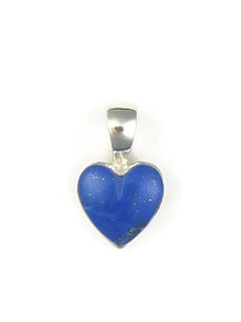 Sterling Silver Lapis Heart Pendant by Bernise Chavez (PD3859)