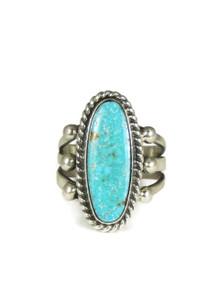 "Kingman Turquoise Ring Size 7 1/2"" by Linda Yazzie (RG3822)"