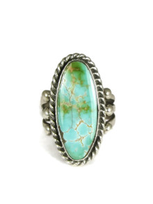 Natural Royston Turquoise Ring Size 8 by Linda Yazzie (RG3837)