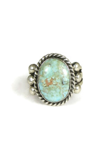 Natural Dry Creek Turquoise Ring Size 9 by Linda Yazzie