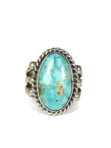 "Kingman Turquoise Ring Size 7 1/2"" by Linda Yazzie (RG3839)"