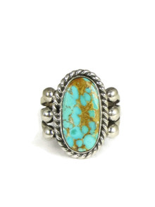 Natural Royston Turquoise Ring Size 7 by Linda Yazzie (RG3840)