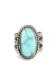 Natural Royston Turquoise Ring Size 7 by Linda Yazzie (RG3841)