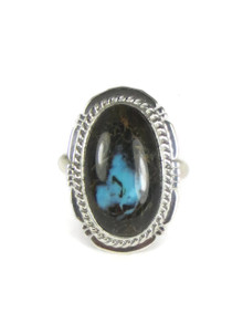 Sierra Nevada Boulder Turquoise Ring Size 7 by Jake Sampson