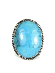 Ithaca Peak Turquoise Ring Size 8 and up - Adjustable by Albert Jake