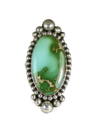 Large Royston Turquoise Gem Ring Size 9 by Gene Natan