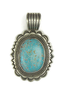 Natural Dragonfly Turquoise Pendant by Albert Jake