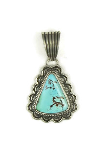 Pilot Mountain Turquoise Pendant by Tsosie White