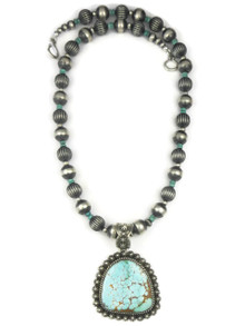 Natural Number 8 Turquoise Necklace by Happy Piaso