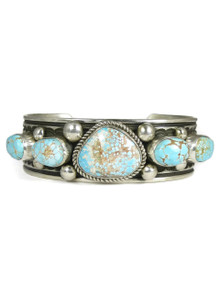 Natural Number 8 Turquoise Row Bracelet by Albert Jake