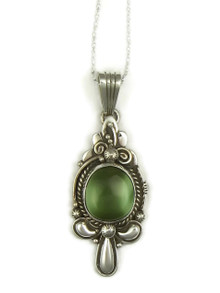 Natural Two-Tone Green Royston Turquoise Pendant by Fritson Toledo