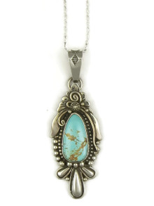 Natural Royston Turquoise Pendant by Fritson Toledo (PD3877)