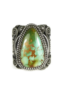Natural Royston Turquoise Ring Size 13 by Delbert Gordon (RG3854)
