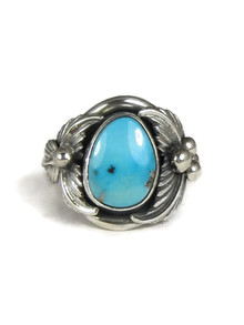Sleeping Beauty Turquoise Ring Size 9 by Bobby Platero