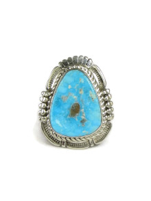 Turquoise Mountain Gem Ring Size 7 1/2 by Bennie Ration