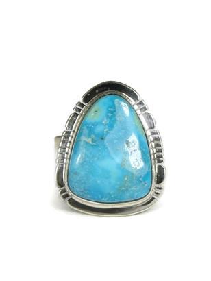 Kingman Turquoise Ring Size 9 by Phillip Sanchez