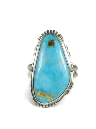 Easter Blue Turquoise Ring Size 9 1/2 by Evelyn Bahe