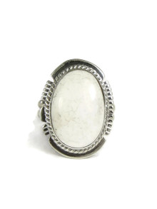 White Buffalo Ring Size 6 by Larson Lee