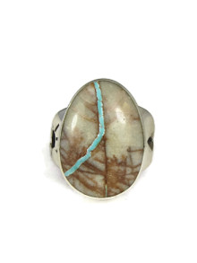 Royston Boulder Turquoise Ring Size 7 by Frederick Chavez