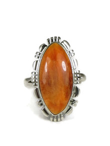 Spiny Oyster Shell Ring Size 8 by Lydia Yazzie