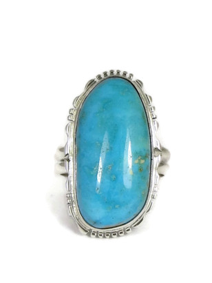 Easter Blue Turquoise Ring Size 10 by Evelyn Bahe