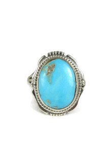 Pilot Mountain Turquoise Ring Size 9 by Kim Yazzie