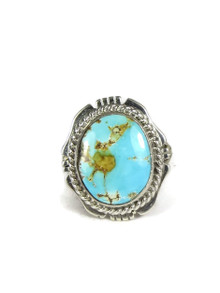 Number 8 Turquoise Ring Size 5 by Kim Yazzie