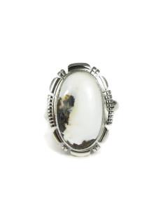 White Buffalo Ring Size 7 by Lydia Yazzie