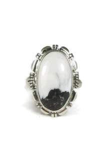 White Buffalo Ring Size 7 by Evelyn Bahe (RGF3880)