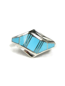 Turquoise Inlay Ring Size 7 1/4 (RG3882-S7)