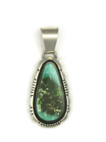 Natural Two-Tone Green Royston Turquoise Pendant by Cooper Willie