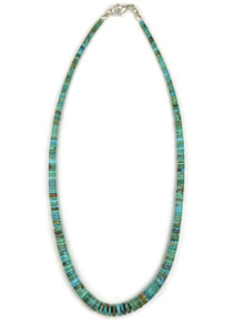 """Turquoise Heishi Necklace 17 1/4"""" by Ronald Chavez"""
