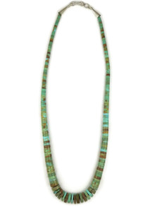 "Turquoise Heishi Necklace 19 1/2"" by Ronald Chavez (NK4485)"