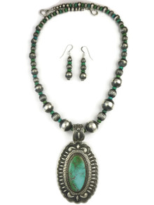 Natural High-Grade Royston Turquoise Necklace Set by Darryl Becenti