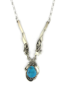 Turquoise Mountain Turquoise Necklace by Les Baker Jewelry