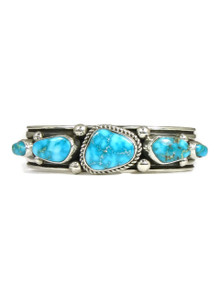 Water Web Kingman Turquoise Row Bracelet by Albert Jake (BR4256)