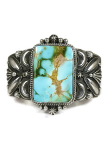Natural Royston Turquoise Cuff Bracelet by Derrick Gordon (BR4257)