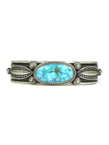 Kingman Bird's Eye Turquoise Bracelet by Albert Jake (BR4264)