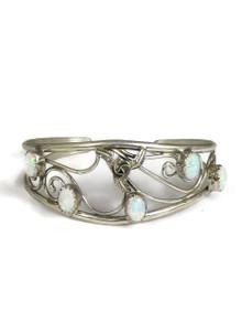 Sterling Silver Opal Flower Bracelet