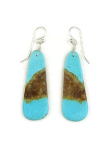 Turquoise Slab Earrings by Ronald Chavez (ER8000)