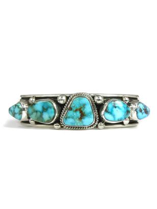 Kingman Turquoise Row Bracelet by Albert Jake