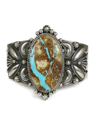 Natural Royston Boulder Turquoise Bracelet by Derrick Gordon