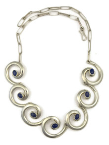 Lapis Silver Swirl Necklace by Mildred Parkhurst