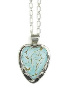 Sierra Nevada Turquoise Heart Pendant by Phillip Sanchez (PD3897)