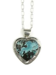 Sierra Nevada Boulder Turquoise Heart Pendant by Phillip Sanchez