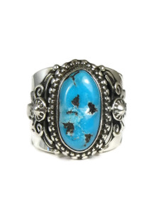 Sleeping Beauty Turquoise Ring Size 10 1/2 by Fritson Toledo
