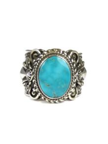 Kingman Turquoise Ring Size 11 1/2 by Fritson Toledo