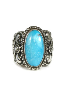 Blue Ridge Turquoise Ring Size 10 by Fritson Toledo