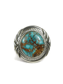 Brown Web Sierra Nevada Turquoise Ring Size 12 by John Nelson